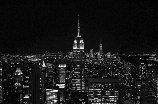 Gotham advertisements category landscape photography tagged black white